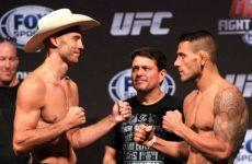 Церемония взвешивания бойцов UFC on FOX 17 «Дос Аньос —  Серроне»: смотреть онлайн