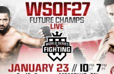WSOF 27 мейн-кард: полный список боёв главного карда шоу 23.01.2016