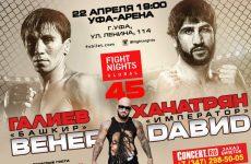 Fight Nights Global 45 файткард: полный список боёв шоу от 22.04.2016