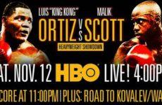 Повтор боя Ортиса против Скотта: смотреть видео запись от 12 ноября 2016