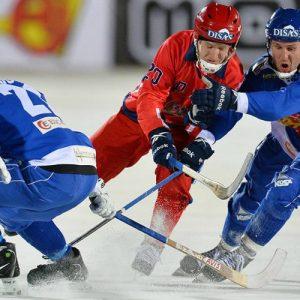 Прямая онлайн видео трансляция матча Россия — Казахстан чемпионата мира по хоккею с мячом, 30.01.2017