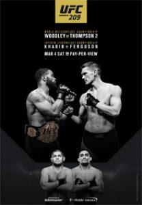Официальный постер UFC 209: Woodley vs. Thompson 2
