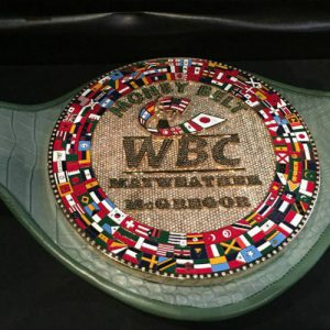 В WBC представили пояс, который будет разыгран в бою Мейвезер vs. МакГрегор