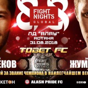 Результаты турнира Fight Nights Global 88