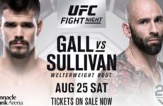 Видео боя Микки Галл — Джордж Салливан UFC Fight Night 135