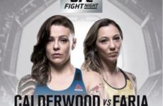 Видео боя Джоанн Колдервуд — Калиндра Фария UFC Fight Night 135