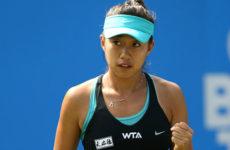 Смотреть онлайн теннисный поединок Чжан Шуай — Аманда Анисимова. Хирошима. WTA.