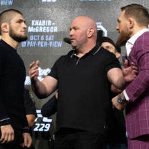 Пресс-конференция Конора МакГрегора и Хабиба Нурмагомедова перед UFC 229 (на русском языке)