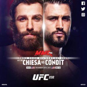 Бой Карлоса Индита против Майкла Кьезы пройдёт на UFC 232