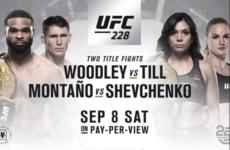 Прямая трансляция турнира UFC 228
