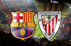 Прямая трансляция Барселона — Атлетик. Футбол. Ла Лига.