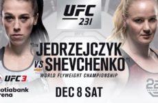 Джоанна Енджейчик и Валентина Шевченко поборются за вакантный титул в 125 фунтах на UFC 231