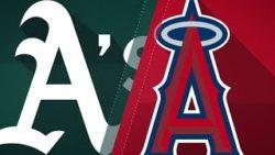 Прямая трансляция бейсбольного матча Окленд Атлетикс - Лос-Анджелес Энджелс. МЛБ.
