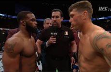 Трогательная разговор Тайрона Вудли и Даррена Тилла после поединка на UFC 228
