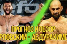 Прогноз на бой Андрей Орловский — Шамиль Абдурахимов UFC Moscow 15.09.2018