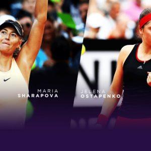 Прямая трансляция теннис Мария Шарапова —Елена Остапенко Турнир Большого шлема 2018