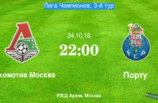 Прямая трансляция Локомотив — Порту. Футбол. Лига Чемпионов 18/19. 24.10.18