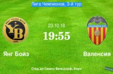 Прямая трансляция Янг Бойз — Валенсия. Футбол. Лига Чемпионов. 23.10.18