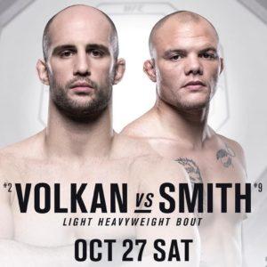 UFC Fight Night 138: Результат поединка Волкан Оздемир — Энтони Смит