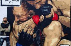 Одну из улиц Стамбула украсило граффити, изображающее бой Макгрегора и Нурмагомедова