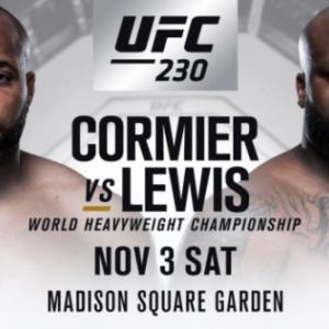 Файткард турнира UFC 230: Даниэль Кормье - Деррик Льюис