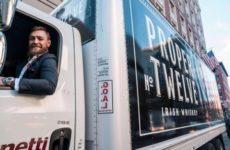 Конор Макгрегор продолжает рекламировать свой бренд виски