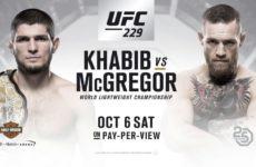 UFC 229. Смотреть все бои турнира 06.10.18