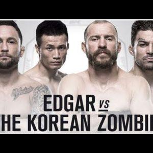 Файткард турнира UFC Fight Night 139: Фрэнки Эдгар — Чен Сон Джон