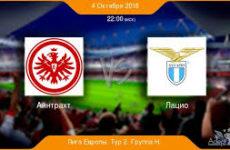 Прямая трансляция Айнтрахт Франкфурт — Лацио. Футбол. Лига Европы 18/19.