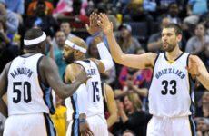Прямая трансляция Мемфис Гризлиз — Индиана Пайсерс. Баскетбол. Предсезонные матчи НБА.
