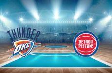 Прямая трансляция Оклахома-Сити Тандер — Детройт Пистонс. Баскетбол. Предсезонные матчи НБА.