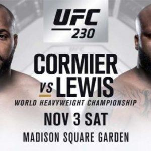 Прямая трансляция UFC 230: Даниэль Кормье — Деррик Льюис