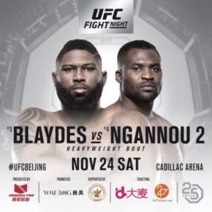 Прямая трансляция UFC Fight Night 141: Кертис Блэйдс – Фрэнсис Нганну
