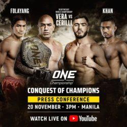 Результаты турнира ONE FC: Conquest of Champions