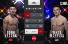 Видео боя Ядон Сон — Винс Моралес UFC Fight Night 141