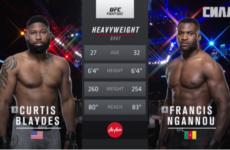 Видео боя Кертис Блэйдс — Фрэнсис Нганну UFC Fight Night 141