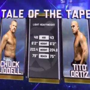 Видео боя Чак Лидделл — Тито Ортис 3 Golden Boy MMA