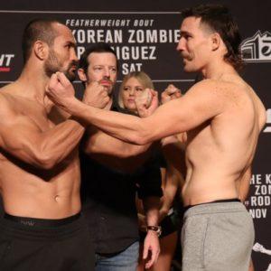 Видео боя Дэйви Рамос - Джон Гунтер UFC Fight Night 139