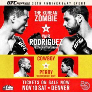 UFC Fight Night 139: Результаты взвешивания