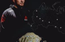 Хабиб Нурмагомедов анонсировал турне своего чемпионского пояса по России