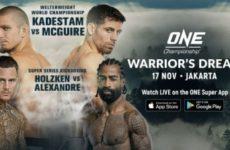 Прямая трансляция ONE Championship: Warrior's Dream: Себастьян Кадестам – Тайлер Макгур