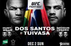 Файткард турнира UFC Fight Night 142: Дос Сантос — Туиваса