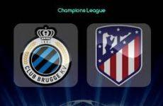 Прямая трансляция Брюгге — Атлетико Мадрид. Футбол. Лига Чемпионов. 11.12.18