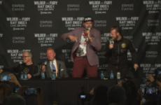 Тайсон Фьюри устроил концерт на пресс-конференции