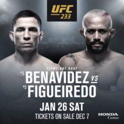 Джозеф Бенавидес - Дейвисон Фигейреду на турнире UFC 233 в Анахайме