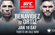 Поединок Джозеф Бенавидес — Дастин Ортиз официально утвержден на UFC on ESPN+ 1