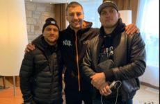 Александр Усик и Василий Ломаченко приехали в Канаду поддержать Александра Гвоздика