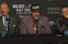 Тайсон Фьюри: «Деонтей Уайлдер – самый настоящий чемпион»