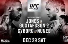 Файткард турнира UFC 232: Джон Джонс — Александр Густафссон