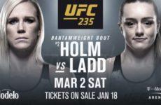 UFC 235: Холли Холм сразится с Аспен Лэдд